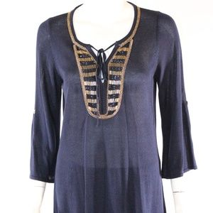 Belldini Medium Navy/Gold Tunic
